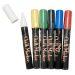 Blackboard Chalk Marker Standard rund spets, 6 st