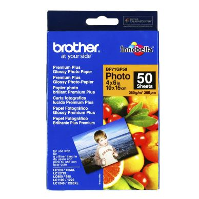 Brother Fotopapper Glossy 10x15 50 ark 260g BP71GP50