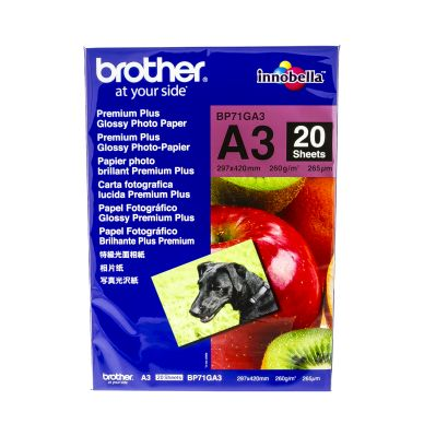 Brother Fotopapper Glossy A3 20 ark 260g BP71GA3