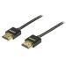 DELTACO tunn HDMI-kabel, 1m, svart