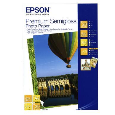 Epson Fotopapper Premium Semigloss A4 20 ark 251g S041332