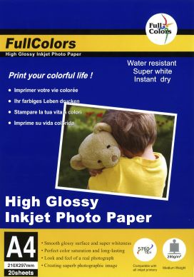 WL Glossy fotopapper 200g A4 20-pack PH200A4