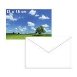 Fotopapir blankt 13x18cm 5 ark 250g + 3 Konvolutt