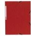 Gummibandsmapp kartong A4 röd 3-klaff, 10 st