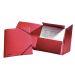 Snoddmapp  Esselte A4/3-klaff röd