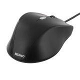 Deltaco optisk mus, 3 knappar med scroll, USB