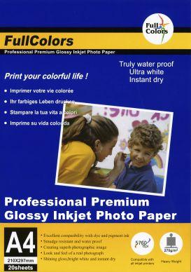 WL Premium glossy fotopapper 270g A4 20-pack PH260A4
