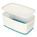 Förvaringslåda MyBox Small med lock vit/blå
