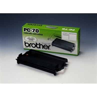 Brother Kassett inkl färgband PC70