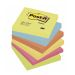 Post-It 654 Energetic, 76x76 mm, 6 st