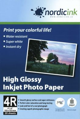 NORDICINK Glossy fotopapper 210g 10*15 20 pack PH200-10X15