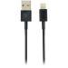 DELTACO synkr./latausjohto, 2 m, MFI USB-Lightning, musta