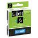 Tape Dymo D1 12 mm hvit på svart