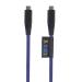 Xtorm kiinteä sininen USB-C-USB-C, 1 m Kevlar