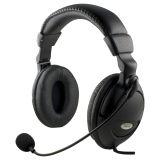 DELTACO headset äänenvoimak. säädöllä+mikrofonilla, 2m johto
