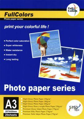 WL Glossy fotopapper 200g A3 20-Pack PH200A3